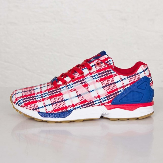 separation shoes 5d001 b9eaa Homme Adidas Originals ZX Flux Clot Souliers De Course Collégiale Rouge Ftw  Blanche Royal